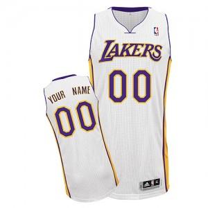 Los Angeles Lakers Personnalisé Adidas Alternate Blanc Maillot d'équipe de NBA achats en ligne - Authentic pour Enfants