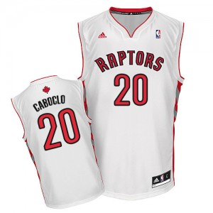Maillot NBA Swingman Bruno Caboclo #20 Toronto Raptors Home Blanc - Homme