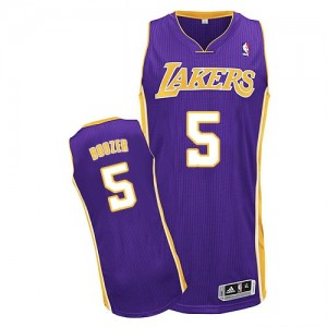 Maillot NBA Los Angeles Lakers #5 Carlos Boozer Violet Adidas Authentic Road - Homme
