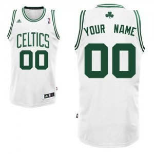 Boston Celtics Personnalisé Adidas Home Blanc Maillot d'équipe de NBA Promotions - Swingman pour Homme