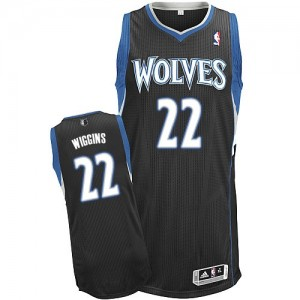 Maillot Adidas Noir Alternate Authentic Minnesota Timberwolves - Andrew Wiggins #22 - Homme