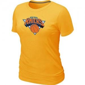 Tee-Shirt Jaune Big & Tall New York Knicks - Femme