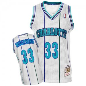 Maillot Authentic Charlotte Hornets NBA Throwback Blanc - #33 Alonzo Mourning - Homme