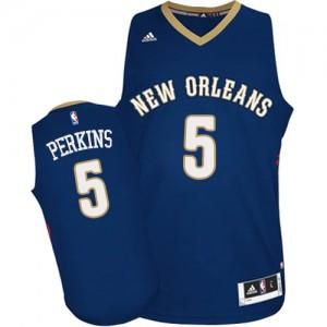 New Orleans Pelicans Kendrick Perkins #5 Road Swingman Maillot d'équipe de NBA - Bleu marin pour Homme