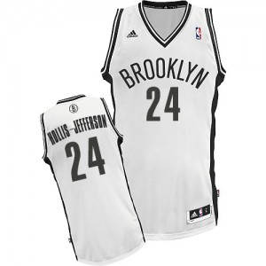 Brooklyn Nets Rondae Hollis-Jefferson #24 Home Swingman Maillot d'équipe de NBA - Blanc pour Homme