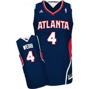 Maillot NBA Swingman Spud Webb #4 Atlanta Hawks Road Bleu marin - Homme