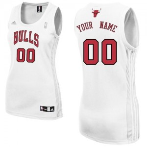Maillot NBA Blanc Authentic Personnalisé Chicago Bulls Home Femme Adidas