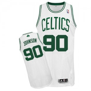 Boston Celtics #90 Adidas Home Blanc Authentic Maillot d'équipe de NBA Magasin d'usine - Amir Johnson pour Homme