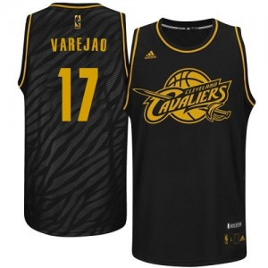 Maillot Swingman Cleveland Cavaliers NBA Precious Metals Fashion Noir - #17 Anderson Varejao - Homme