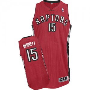 Maillot NBA Rouge Anthony Bennett #15 Toronto Raptors Road Authentic Homme Adidas