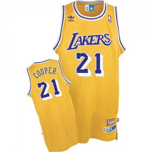 Maillot NBA Or Michael Cooper #21 Los Angeles Lakers Throwback Swingman Homme Mitchell and Ness