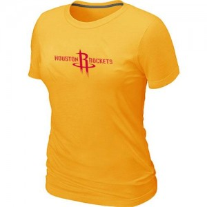 T-shirt principal de logo Houston Rockets NBA Big & Tall Jaune - Femme