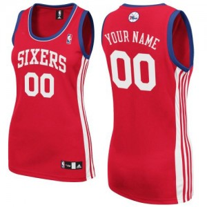 Maillot Philadelphia 76ers NBA Road Rouge - Personnalisé Authentic - Femme