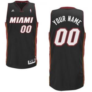 Maillot NBA Noir Swingman Personnalisé Miami Heat Road Homme Adidas