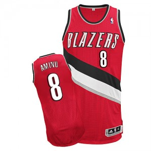 Maillot NBA Portland Trail Blazers #8 Al-Farouq Aminu Rouge Adidas Authentic Alternate - Homme