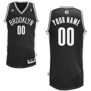 Maillot NBA Noir Swingman Personnalisé Brooklyn Nets Road Homme Adidas
