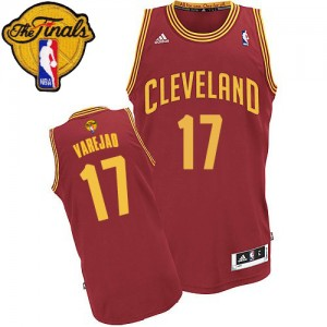 Maillot Adidas Vin Rouge Road 2015 The Finals Patch Swingman Cleveland Cavaliers - Anderson Varejao #17 - Homme