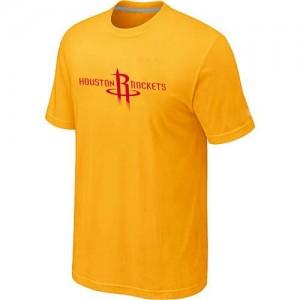 Tee-Shirt NBA Houston Rockets Jaune Big & Tall - Homme