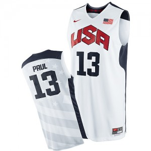 Maillot NBA Authentic Chris Paul #13 Team USA 2012 Olympics Blanc - Homme