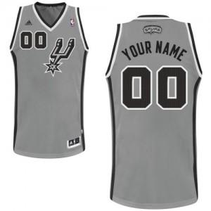 San Antonio Spurs Swingman Personnalisé Alternate Maillot d'équipe de NBA - Gris argenté pour Enfants