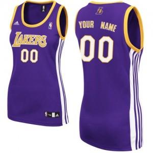 Maillot NBA Swingman Personnalisé Los Angeles Lakers Road Violet - Femme