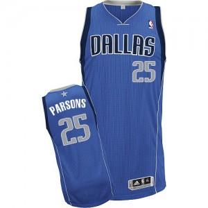 Maillot NBA Dallas Mavericks #25 Chandler Parsons Bleu royal Adidas Authentic Road - Homme