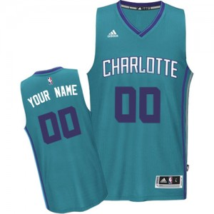 Maillot NBA Charlotte Hornets Personnalisé Authentic Bleu clair Adidas Road - Homme