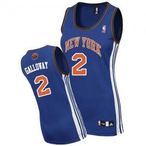 Maillot Adidas Bleu royal Road Authentic New York Knicks - Langston Galloway #2 - Femme