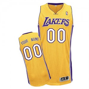 Maillot Los Angeles Lakers NBA Home Or - Personnalisé Authentic - Homme