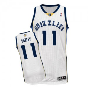 Maillot NBA Memphis Grizzlies #11 Mike Conley Blanc Adidas Authentic Home - Homme