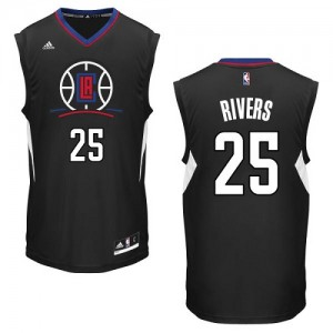 Maillot NBA Authentic Austin Rivers #25 Los Angeles Clippers Alternate Noir - Homme