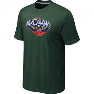 New Orleans Pelicans Big & Tall Tee-Shirt d'équipe de NBA - Vert foncé pour Homme