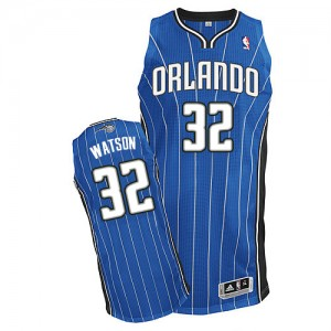 Maillot NBA Orlando Magic #32 C.J. Watson Bleu royal Adidas Authentic Road - Homme