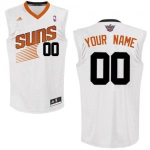 Maillot NBA Blanc Swingman Personnalisé Phoenix Suns Home Homme Adidas