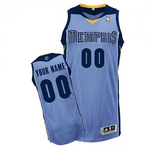 Maillot Adidas Bleu clair Alternate Memphis Grizzlies - Authentic Personnalisé - Enfants