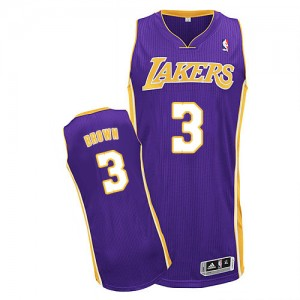 Maillot Authentic Los Angeles Lakers NBA Road Violet - #3 Anthony Brown - Homme