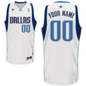 Maillot Dallas Mavericks NBA Home Blanc - Personnalisé Swingman - Enfants