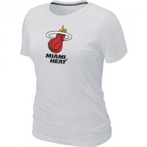 Tee-Shirt NBA Blanc Miami Heat Big & Tall Femme