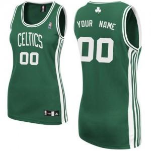 Maillot Boston Celtics NBA Road Vert (No Blanc) - Personnalisé Authentic - Femme