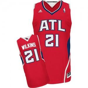 Atlanta Hawks Dominique Wilkins #21 Alternate Swingman Maillot d'équipe de NBA - Rouge pour Homme