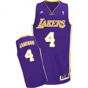 Los Angeles Lakers Byron Scott #4 Road Swingman Maillot d'équipe de NBA - Violet pour Homme