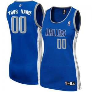 Maillot NBA Authentic Personnalisé Dallas Mavericks Alternate Bleu marin - Femme