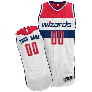 Maillot Adidas Blanc Home Washington Wizards - Authentic Personnalisé - Enfants
