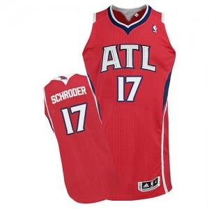Maillot NBA Rouge Dennis Schroder #17 Atlanta Hawks Alternate Authentic Homme Adidas