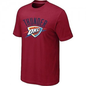Oklahoma City Thunder Big & Tall Tee-Shirt d'équipe de NBA - Rouge pour Homme