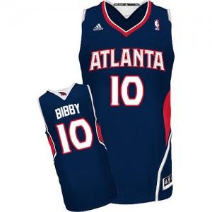Maillot NBA Atlanta Hawks #10 Mike Bibby Bleu marin Adidas Swingman Road - Homme