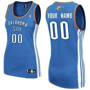 Maillot NBA Bleu royal Authentic Personnalisé Oklahoma City Thunder Road Femme Adidas