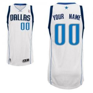 Maillot NBA Blanc Authentic Personnalisé Dallas Mavericks Home Homme Adidas
