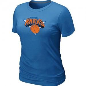 New York Knicks Big & Tall Bleu clair Tee-Shirt d'équipe de NBA Braderie - pour Femme