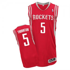Maillot Authentic Houston Rockets NBA Road Rouge - #5 Marcus Thornton - Homme